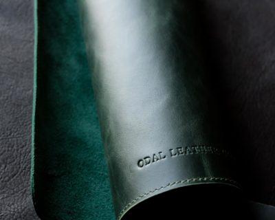 Кожаные подложки настольные — Зелёный (30х45 см)