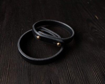 Узкий браслет — черный